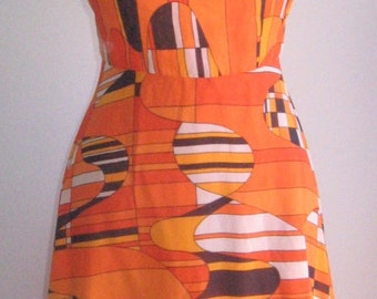 40% off60s 70s op art vtg long dress