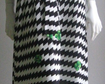 Op Art 70s vintage long dress