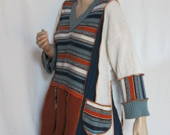 1X and 2X Stripes Tunic