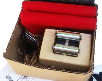 Printmaking Press in a Box Kit for etching monoprint linocut prints