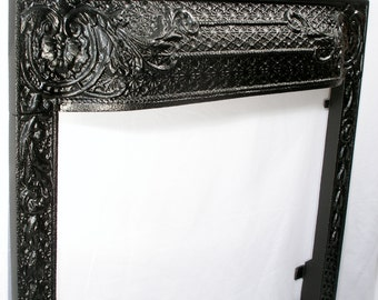 Antique cast iron Fireplace Surround ornate twenty inch fireplace accessories Free USA Shipping