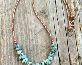 Turquoise necklace, turquoise jewelry, natural turquoise, southwestern jewelry