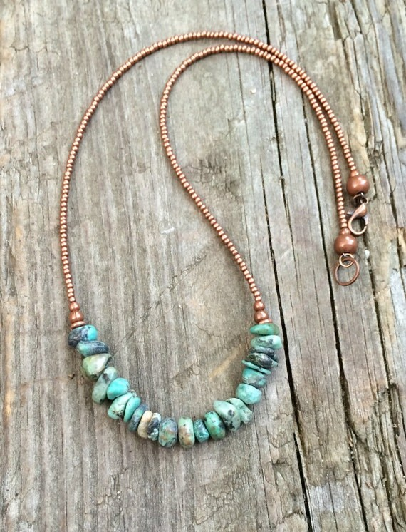 Turquoise necklace turquoise jewelry natural turquoise for Natural seeds for jewelry making