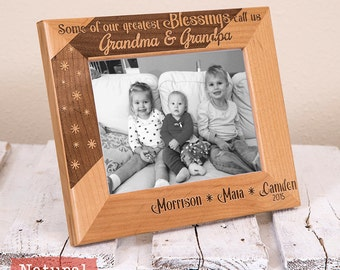 gifts for grandpa personalized grandparents picture frame from kids or grandkids fathers day gifts christmas gift for grandpa