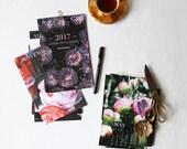 2017 Calendar, Original Photography, Floral Calendar, Home Decor, Flower Prints