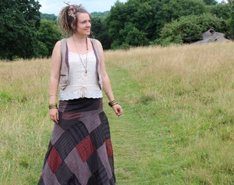 Handmade Patchwork Wrap Skirt, Handmade in Nepal