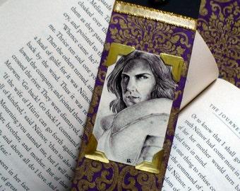 MEDIEVAL KNIGHT Bookmark / Renaissance Fantasy Art / Medieval / Knight portrait / OOAK bookmark