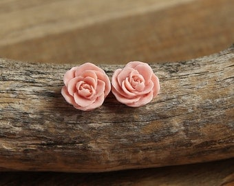 Pale Pink (09) 13mm Dainty Resin Rose Cabochons CF1027