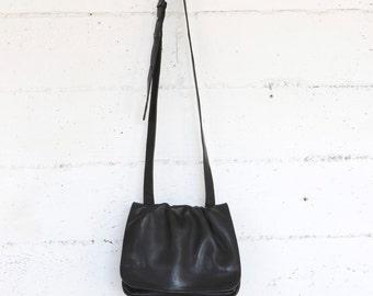 cross body bag, black leather purse, small,  90's minimal bags purses satchel