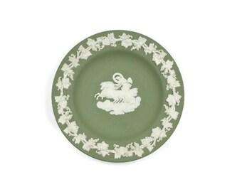 SALE! Wedgwood Jasperware Dish - Sage Green Jasperware, Roman Goddess, Made in England, Mothers Day Gift,  c.1963s