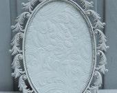 Oval Metal Frame / 4 x 6 Oval Frame / Italian Oval Metal Frame / White Oval Frame / Oval Frame with Glass / Ornate Oval Metal Frame