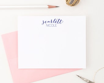 Personalized Stationery // Calligraphy Stationary // Personalized Thank you note cards // Personalized Note Cards, PS003