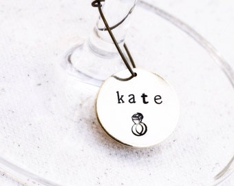 Bachelorette Party Favors, Personalized Wine Glass Charms, Wine Glass Tags, Wine Tasting Party, Wine Bridal Shower Favors Wine Theme Wedding