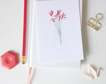 Flowers greeting card floral notecard