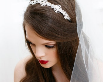 Rhinestone Headband, Wedding Rhinestone Tiara, Bridal Crystal Headband, Tiara Rhinestone, Crystal Bridal Headband, Crystal Headband MAE