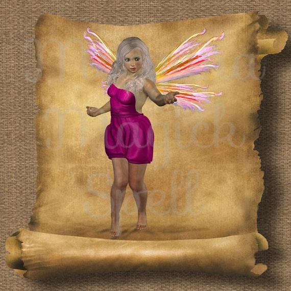 Platinum Fairy Royalty Free Clip Art