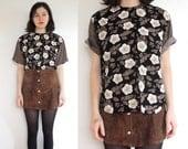 Loose Patterned Floral Shirt
