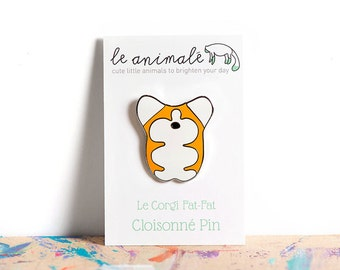 Corgi Enamel Pin, Cloisonné Lapel Pin, Kawaii, Corgis, Gifts for Teens, Cute Animals, For Her, Flair Game, Hard Enamel, Corgi Things