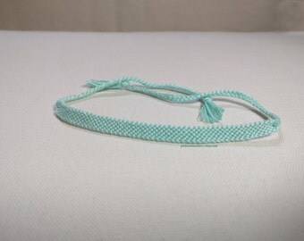 Solid Color Friendship Bracelet, Seafoam - Ready to Ship