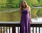 Belladonna Sundress, Organic Cotton Jersey Summer Dress, A-line Eco Friendly Dress