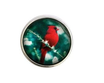 S-2009 Cardinal Bird Snap 20mm for Snap Charm Jewelry