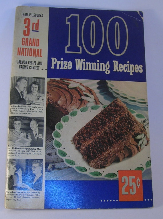 Pillsbury Prize Winning Recipes 100 Third 3rd Grand National Cookbook Vintage 1952 First Edition