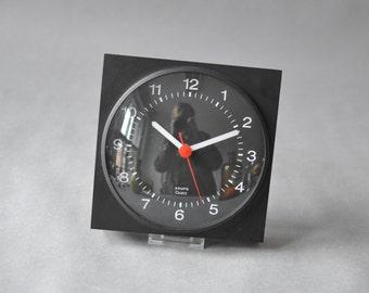 Krups black clock, Krups wall clock, 60s kitchen clock, black wall clock