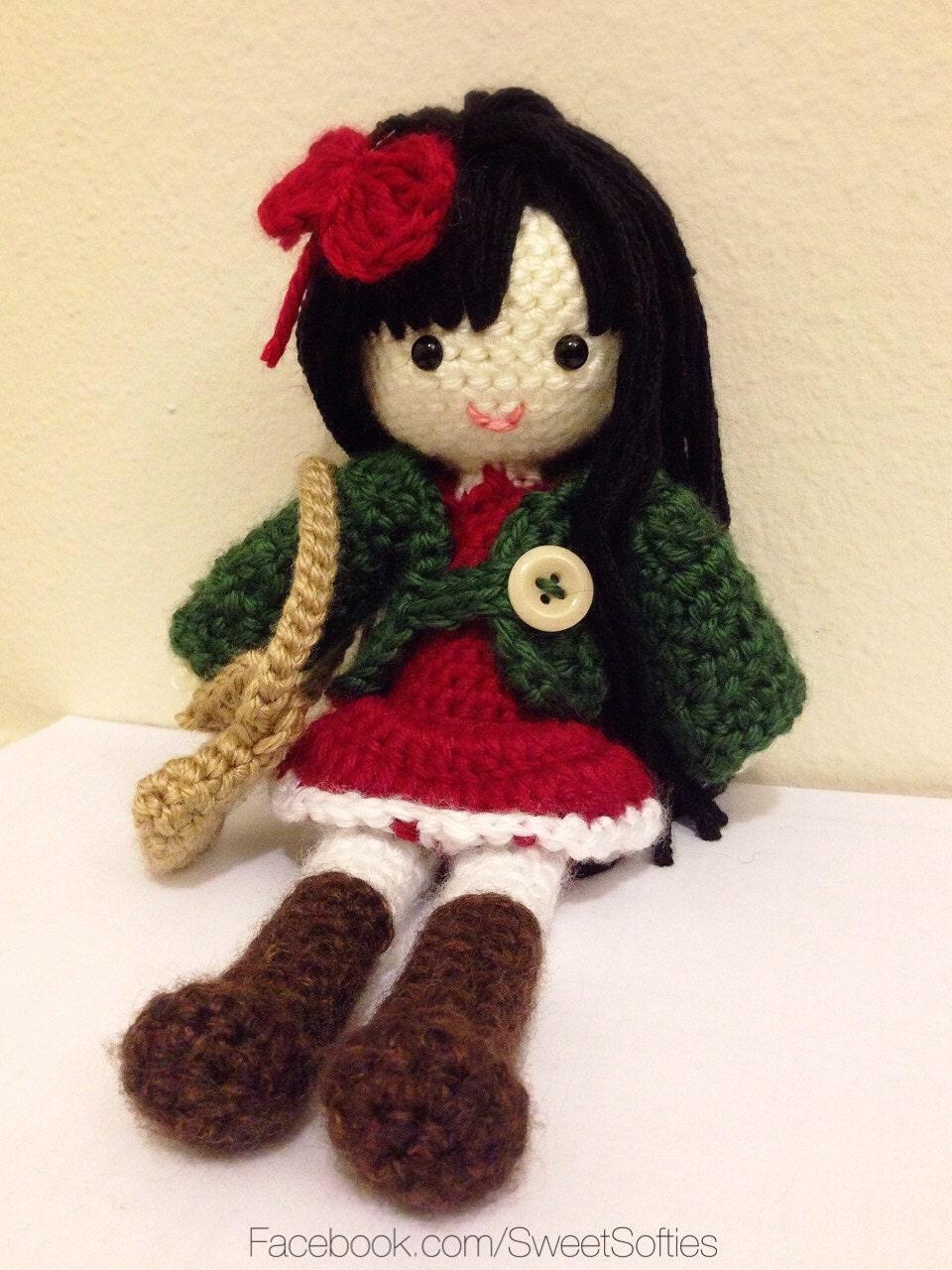Amigurumi Doll Anime : Amigurumi Crochet Anime Girl Doll Pattern - Ava the Autumn ...