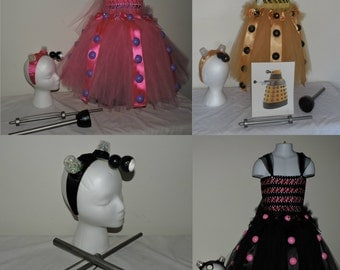 Custom MTO child Dalek Cosplay Costume Tutu Dress made to order Dress Up Doctor Who Cosplay