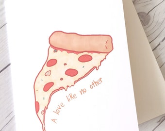 True Love // Pizza Love Card // Cheeky, Funny Love Card // Pizza Lover // Card for Friend// Funny Valentine