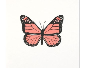 Neon Monarch Butterfly Art Print