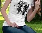 T Shirt of my Link Blot Rorschach Legend of Zelda inspired Art for Men and Women by Barrett Biggers