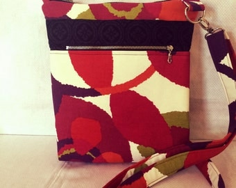 Across The Body Bag, Adjustable strap, long handle purse, Travel Purse, Cross Body Bag, Zippered Small Messenger Bag