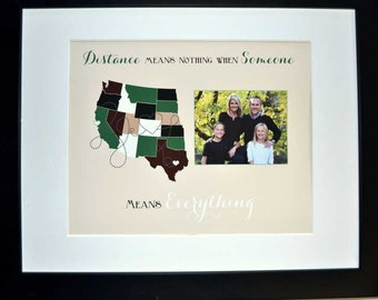 Wedding signature mat option, engagement party, gift for family long distance, custom gift for parents, family quote print, framed option