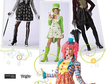 Simplicity 2525 Misses' Clown and Other Fantasy Character Costumes Sewing Pattern