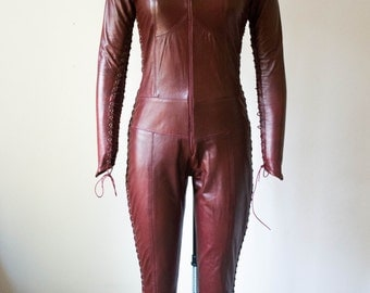 Ready To Ship Red Leather Mord'Sith Catsuit Size 6