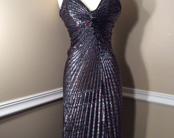 Stunning Vintage Multicolored Beau Monde Formal gown size 5