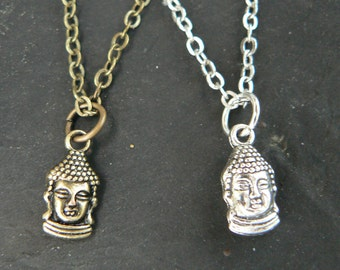 best friends necklace SET of TWO Yoga necklace Buddha necklaces pendant necklaces  couples necklaces in hipster boho hippie gothic