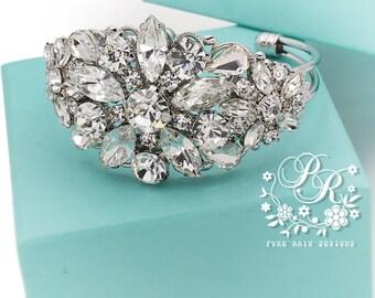 Wedding Bracelet Victorian Style Rhinestone Bangle Bridal Bracelet Wedding Jewelry Wedding Accessory Bridal Jewelry Bridal Bangle Daisy