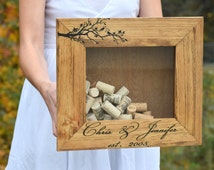Wine Cork Holder - Personalized Wine Cork Shadow Box - Wine Cork Shadow Box - Wine Cork Display - Bottle Cap Holder - Wine Cork Keeper