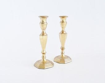Stately Brass Taper Candlesticks INDIA