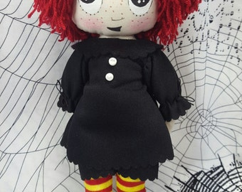"""LTD. 10"""" Happy Ruby Gloom cloth doll with removable outfit & shoes"""