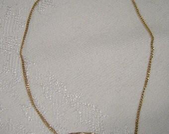 10K ID Signet BRACELET 1970s Initial Identification 10 K Sweetheart