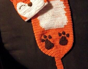 Little Fox newborn Beanie and Cocoon set, crochet