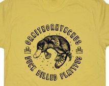 Duck-billed Platypus T Shirt Funny Tee shirts Vintage Duckbill Platypus Cute Science Charles Darwin Australia Animal Tees