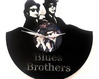 Blues Brothers Wall Art -Vinyl Clock or Framed Vinyl Record LP-Great Rock'n'Roll Gift ,Vinyl Wall Clock,Wall records clock- retro wall clock