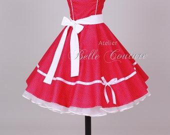 50s petticoat dress red item: 0503