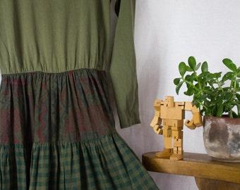 90s Granny Maxi Dress