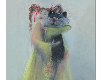 Kitten, Limited art print on canvas , wall art
