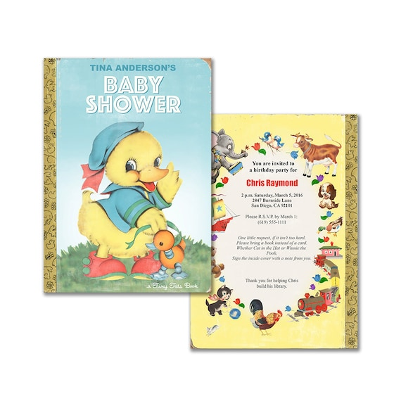 invitation for book themed baby shower storybook baby shower